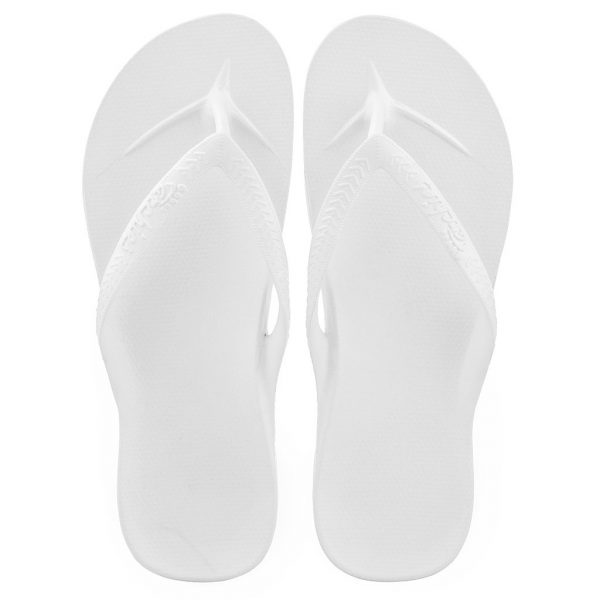 Archies_Arch_Support_Flip_Flops_White_Single_Tone_top_down_view_birds_eye_2000x