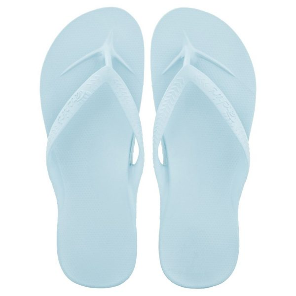Archies_Arch_Support_flip_Flops_Sky_Blue_Single_Tone_top_down_view_birds_eye_2000x