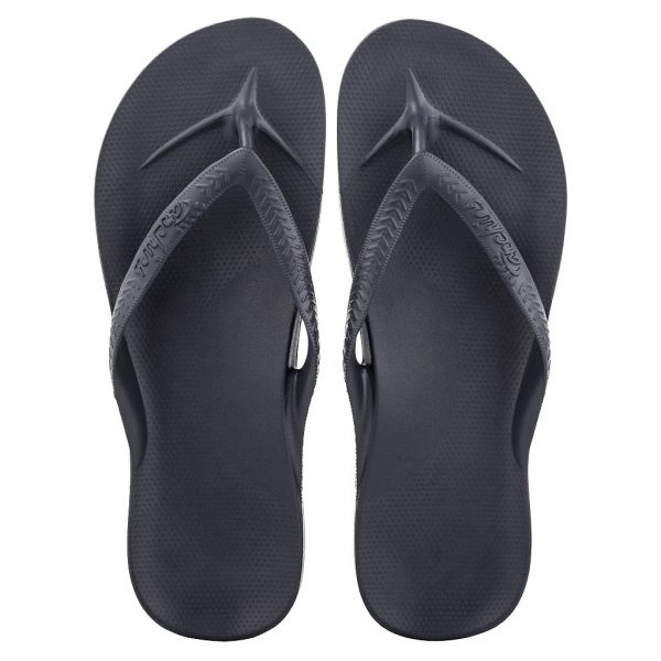 Archies_Arch_Support_flip_Flops_Navy_Single_Tone_top_down_view_birds_eye_2000x-2