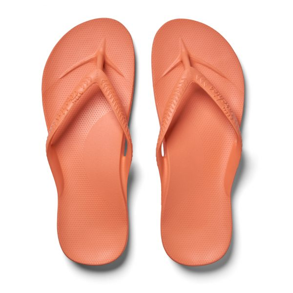 Archies_Thongs_-Peach-_Arch_Support_Sandals_Birds_Eye_View